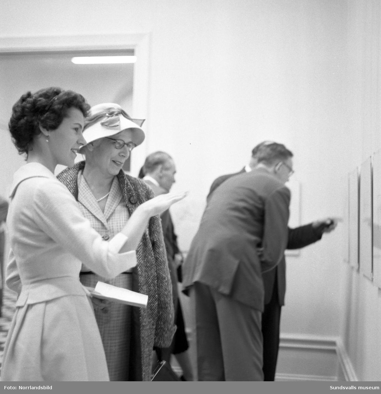 Vernissage på utställning med Birger Lundqvist. Sundsvalls museum.