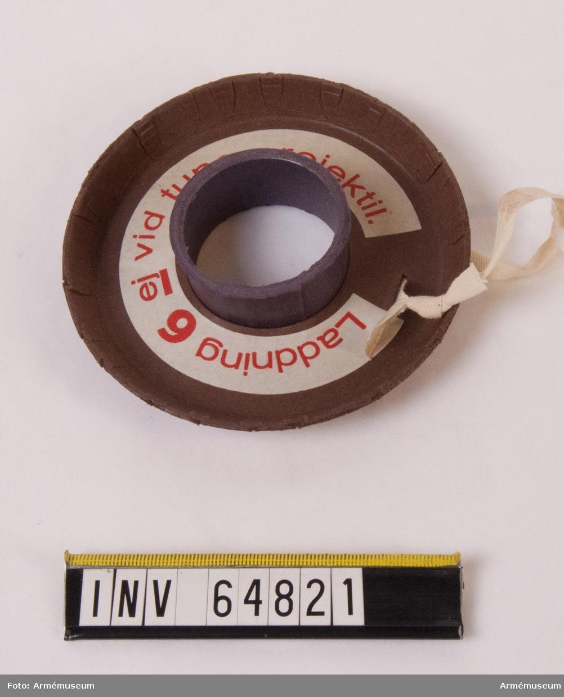Grupp F II. Papplock till stridsladdning. Märkt HBR 10.