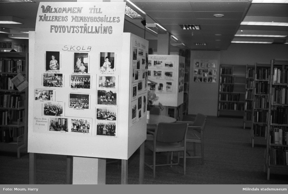 Kållereds hembygdsgille har fotoutställning på Kållereds bibliotek, år 1983.  För mer information om bilden se under tilläggsinformation.