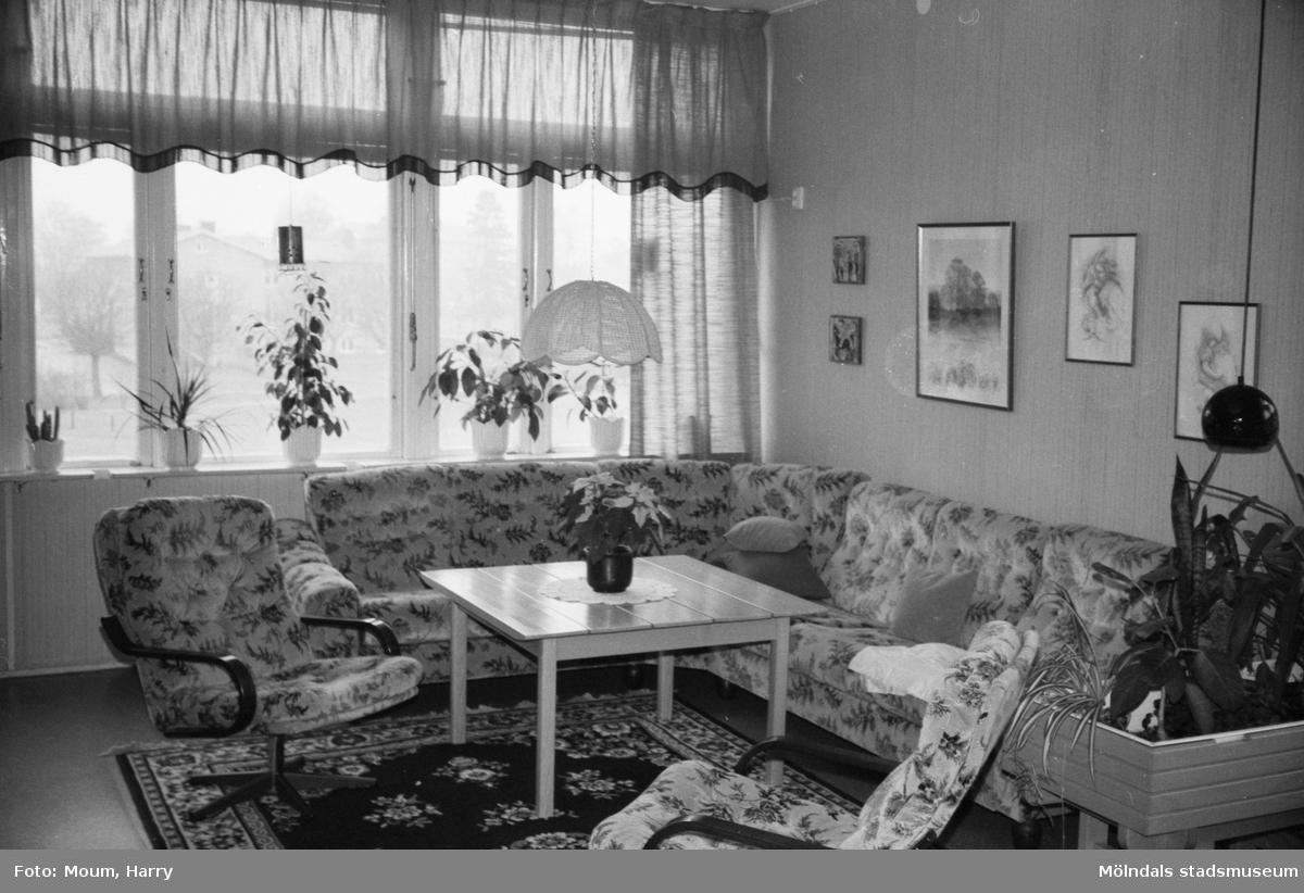 Ett rum på Sagåsens vårdhem i Kållered, år 1983.