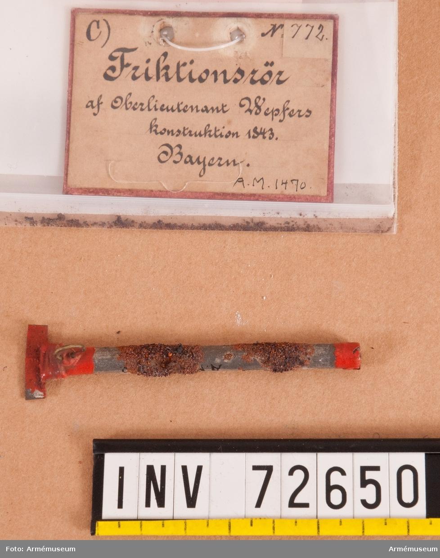 Grupp F.II. Av överstelöjtnant Wepfer's konstruktion 1843, Bayern.