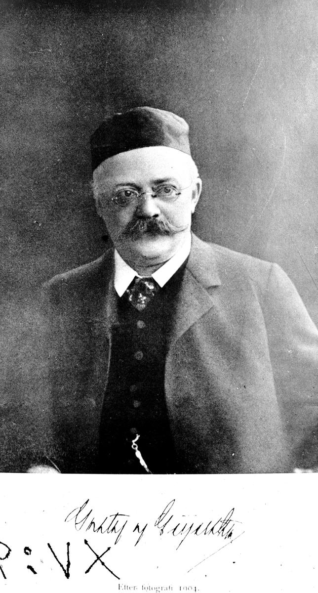 Gustaf av Geijerstam.  Reproduktion av KJ Österberg.