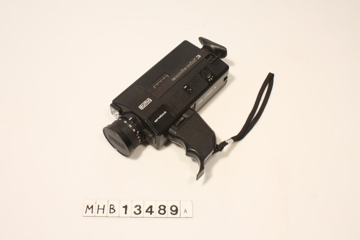 Super8 filmkameramed 9 til 30 mm objektivl, lysttyrke 1,9