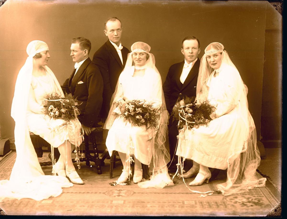 Portrett - 3 brudepar