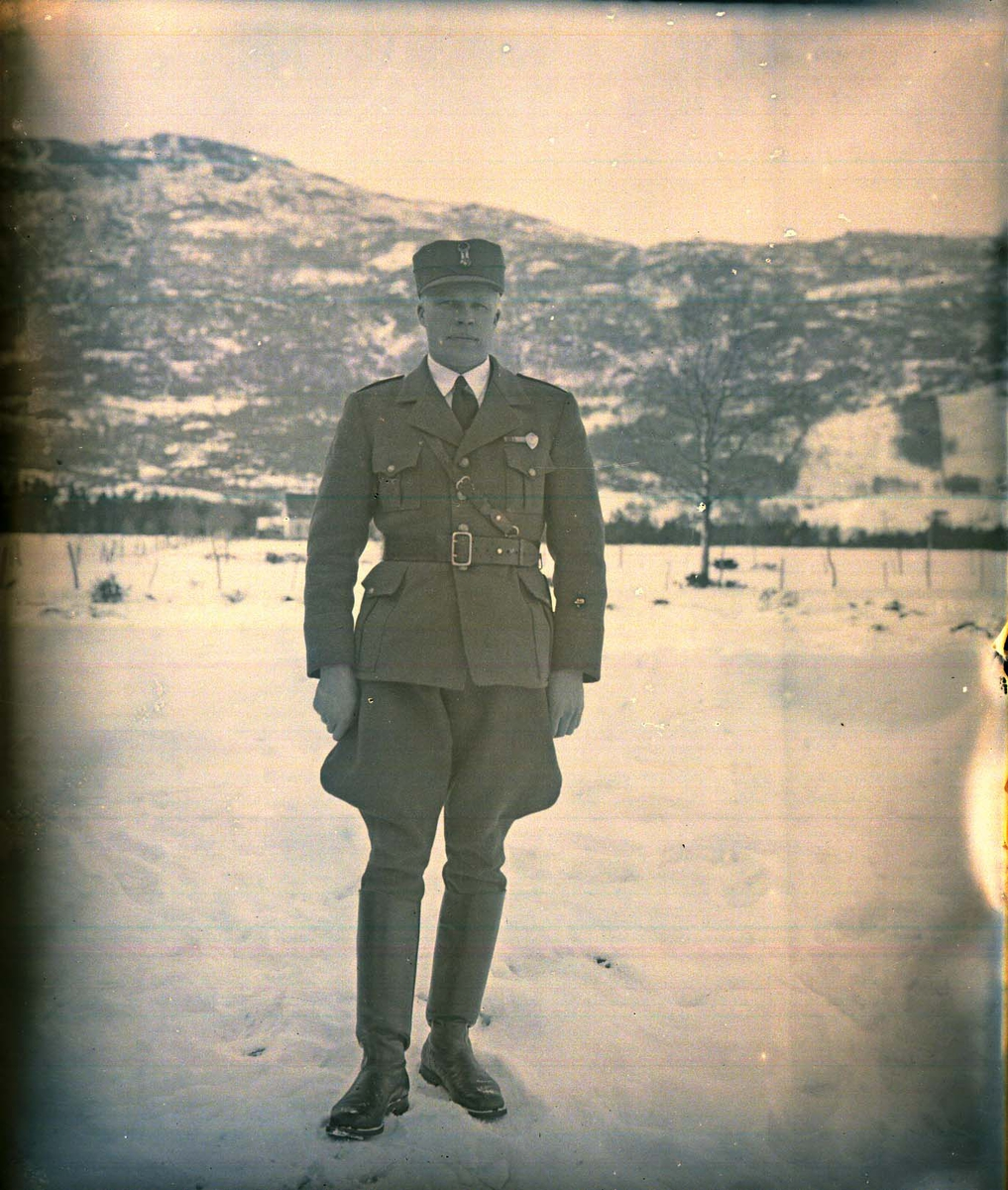Vinterlandskap - Soldat.