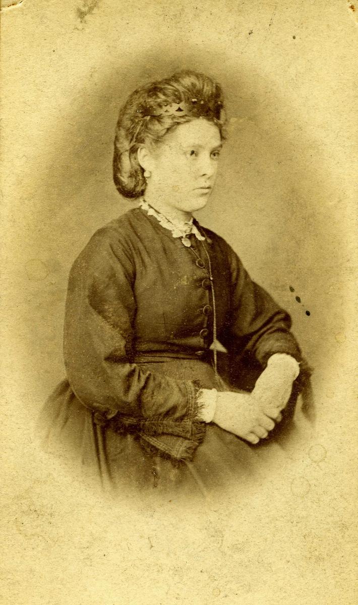 Portrett - Dame med oppsatt hår - Draktskikk.