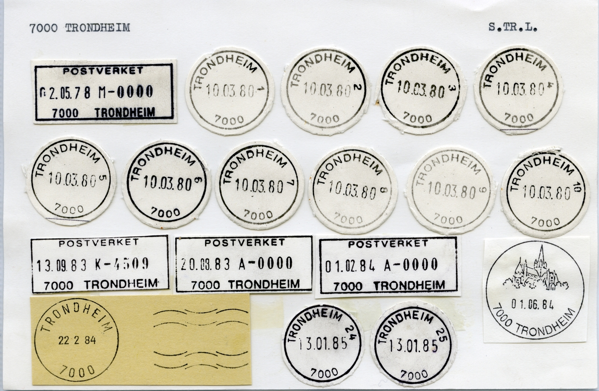 Stempelkatalog 7000 Trondheim (Trondhjem), Sør-Trøndelag
