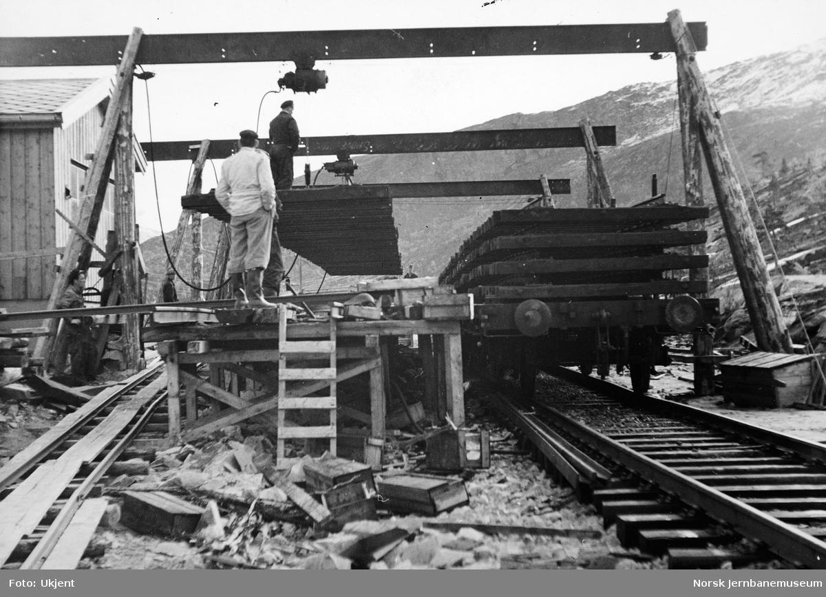 Skinnelegging Kjemåga-Saltdal - montasjeplassen ved Kjemåga kryssingsspor