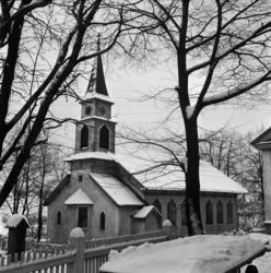 Svartviks kyrka, interiör- och exteriörbilder, med komminist