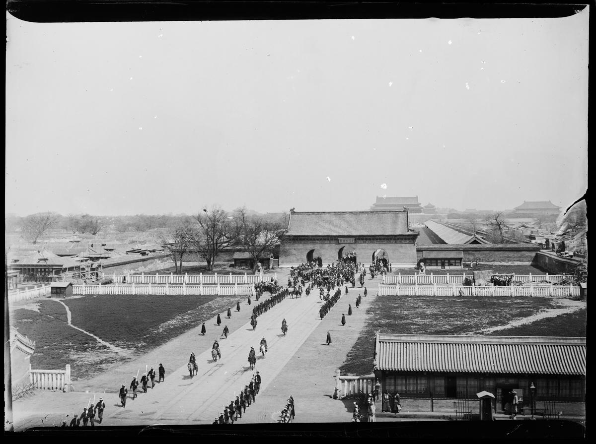 Den himmelske freds plass rundt 1900.