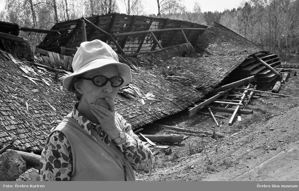 Rödfärgsverk, 19 maj 1970.Äldre rödfärgsverk vid Dylta bruk i Närke.