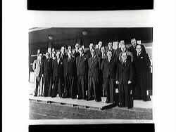 822e3a6a Närkes Idrottsförbund 20 år 1949. Övre raden: Alf Lindman, S