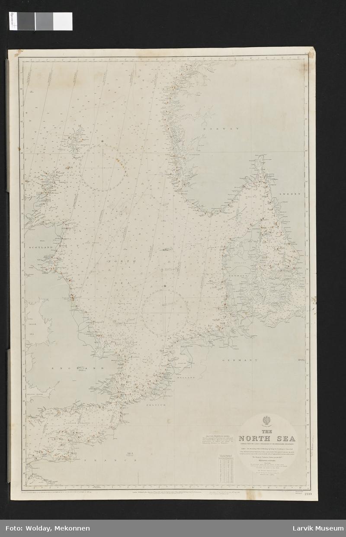 Nordsjøen Norge The North Sea Skottland England Holland/Nederland Danmark