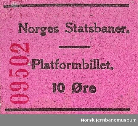 Platformbillet 10 øre