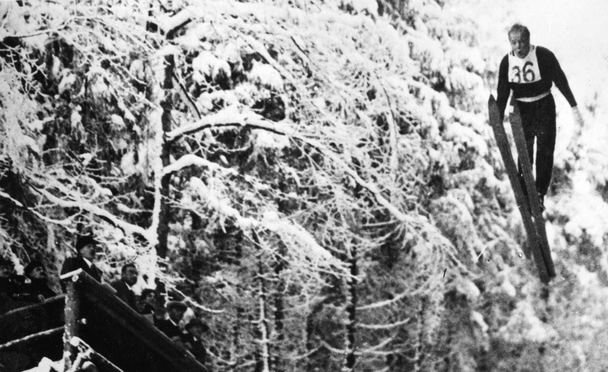Kongsberg skier Sigmund Ruud in competition