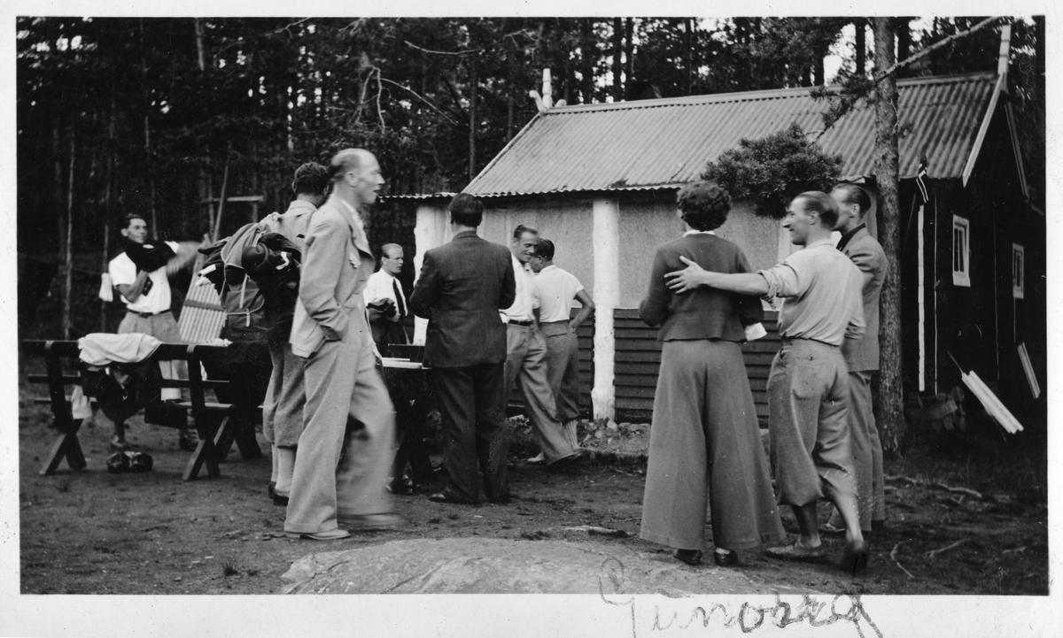 Gathering at the Ruudhytta cabin