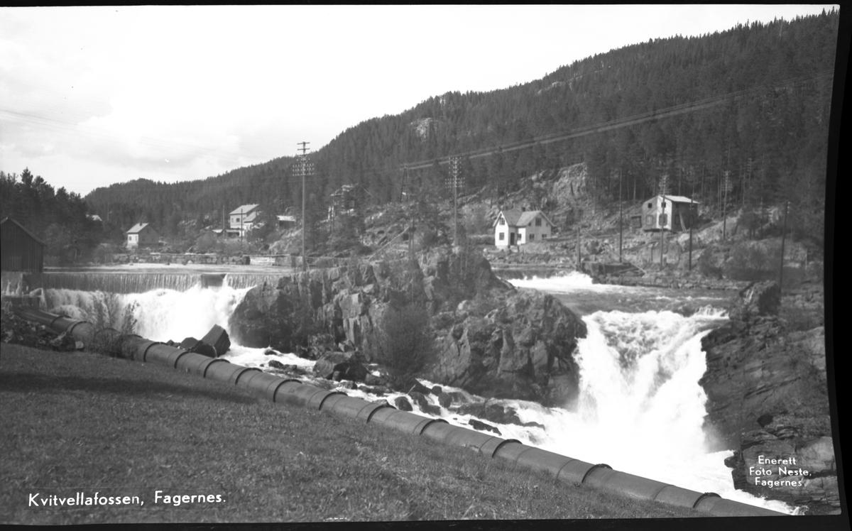 Kvitvellafossen på Fagernes