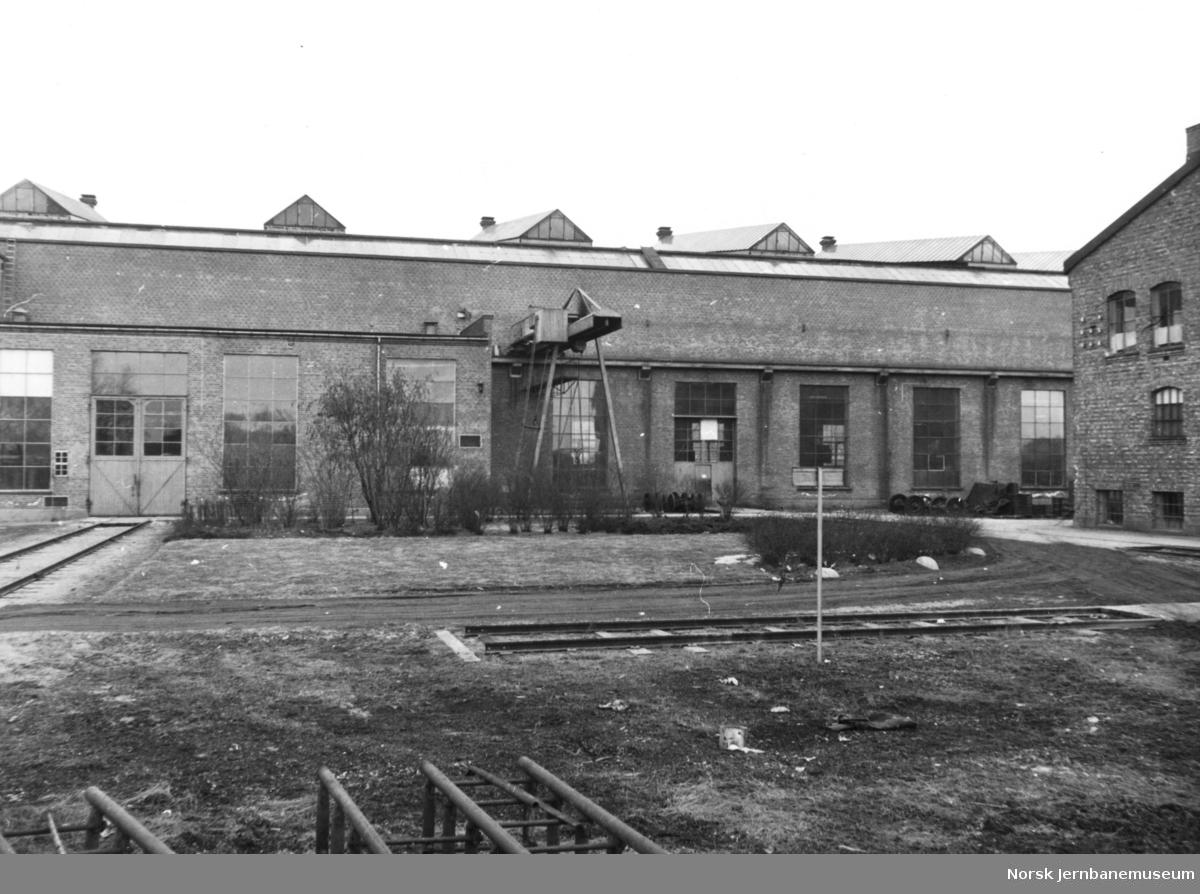 Verkstedet Grorud før bygging av godsvognverkstedet og senere personvognverkstedet