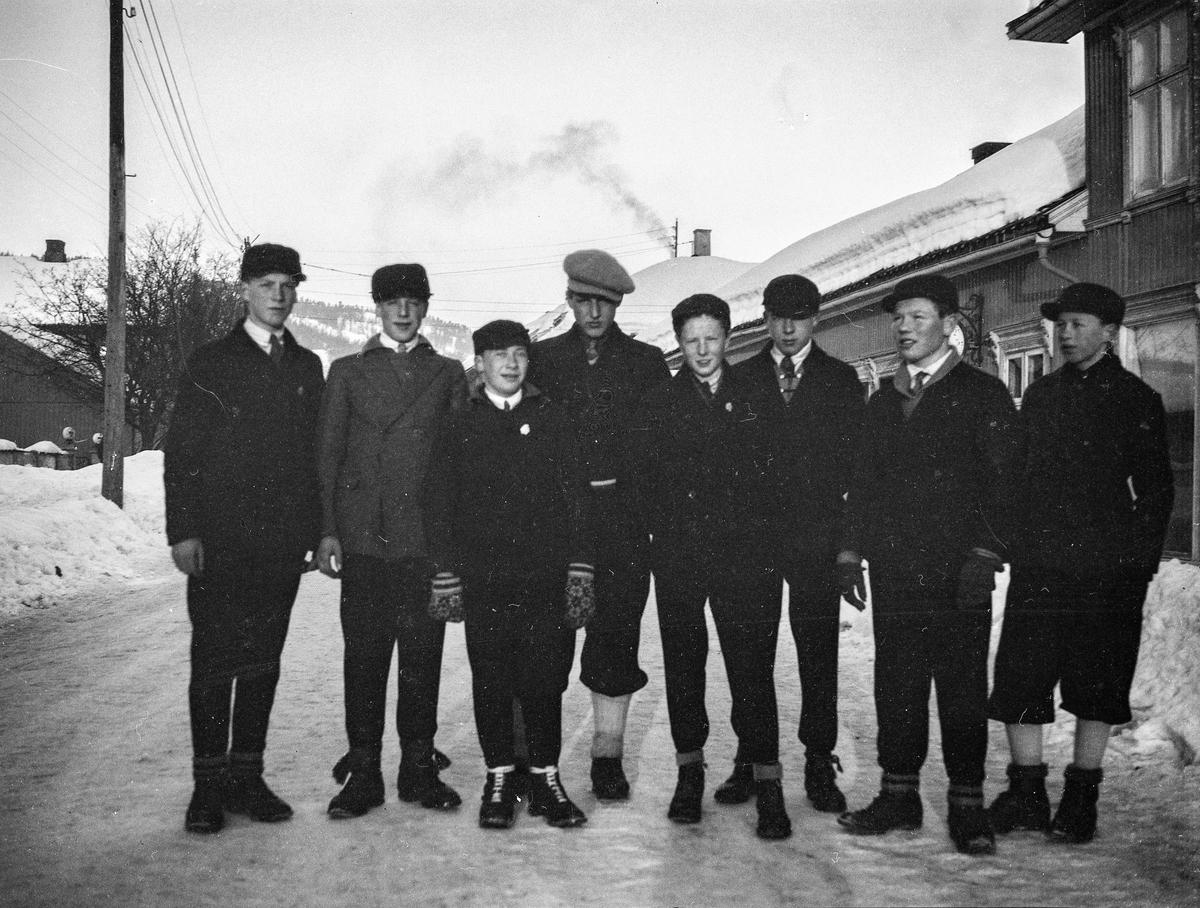 Kongsberg ski jumpers in town 1931
