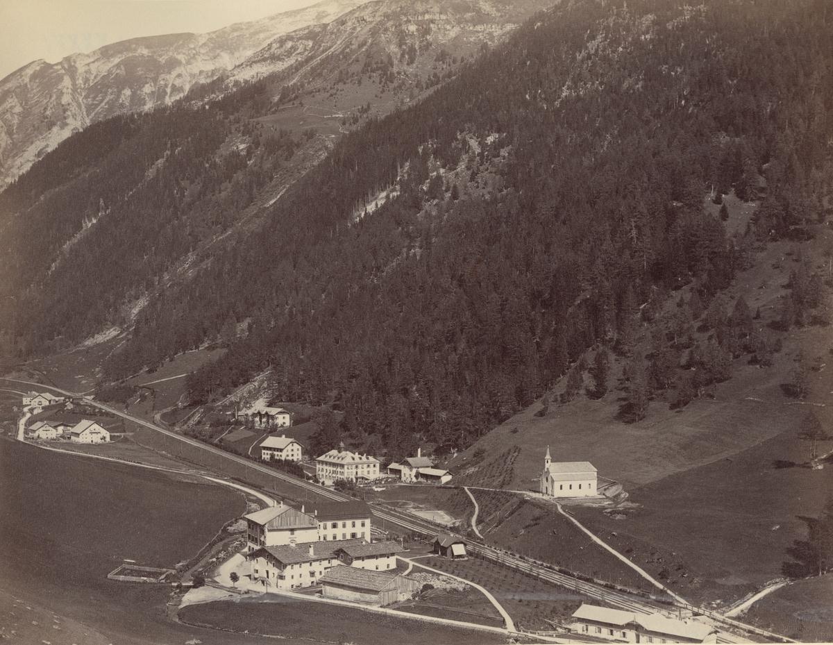 Ur album: Utländska Resan 1900 I. Brennerbahn vid Brennerbad.