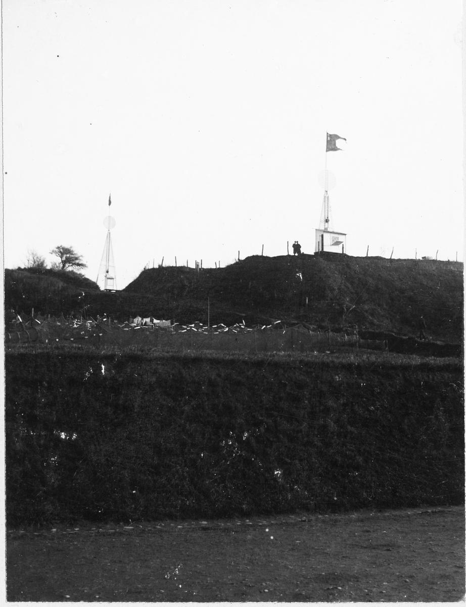 Första telefonkabeln direkt i Hälsingborg (Helsingborg)- Helsingör, 5/11 1902. Kabelbåker.