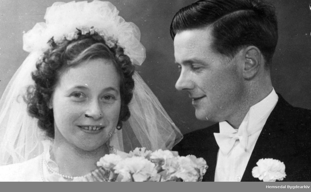 Karen, fødd Sletten 1911, og Olav Ransedokk, fødd 1912.