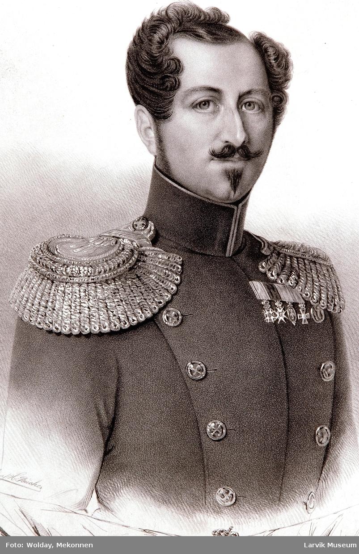 Oskar I, Norges og Sveriges Konge litografi av H.Bucher