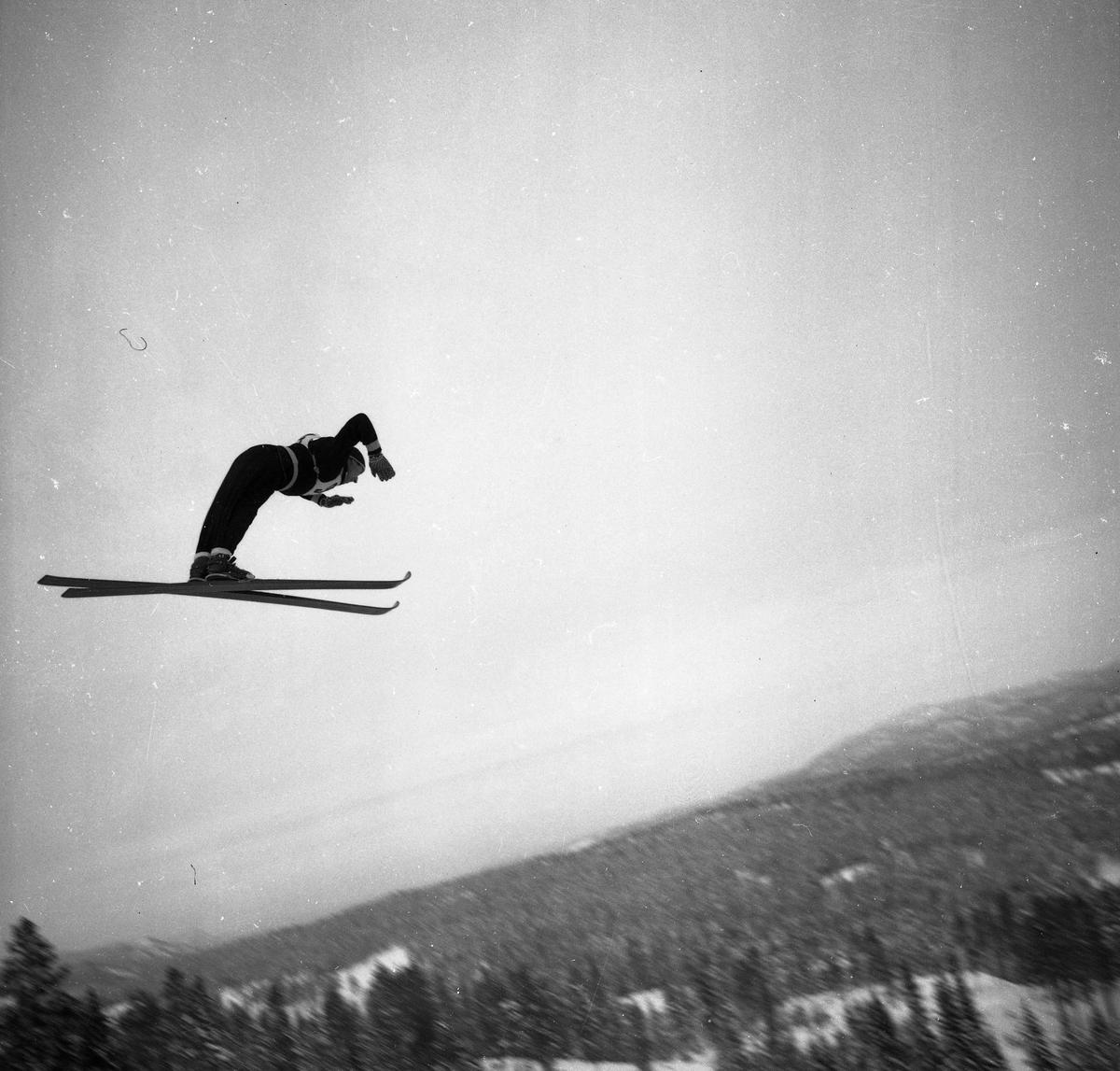 Ski jumper from Kongsberg in action