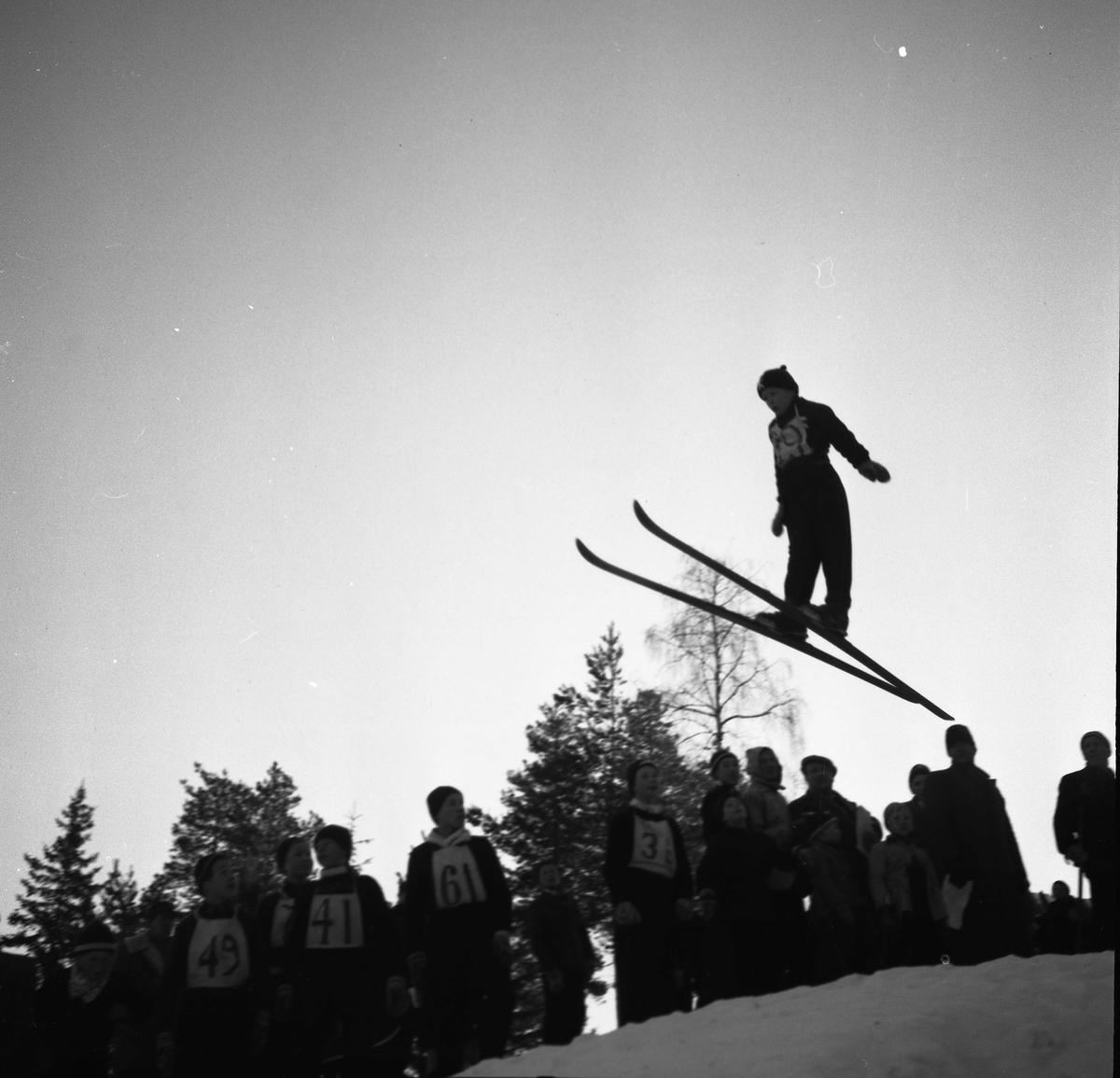 Ski jumping for young boys