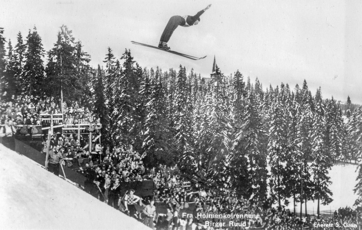 Kongsberg skier Birger Ruud at Holmenkollen in 1934