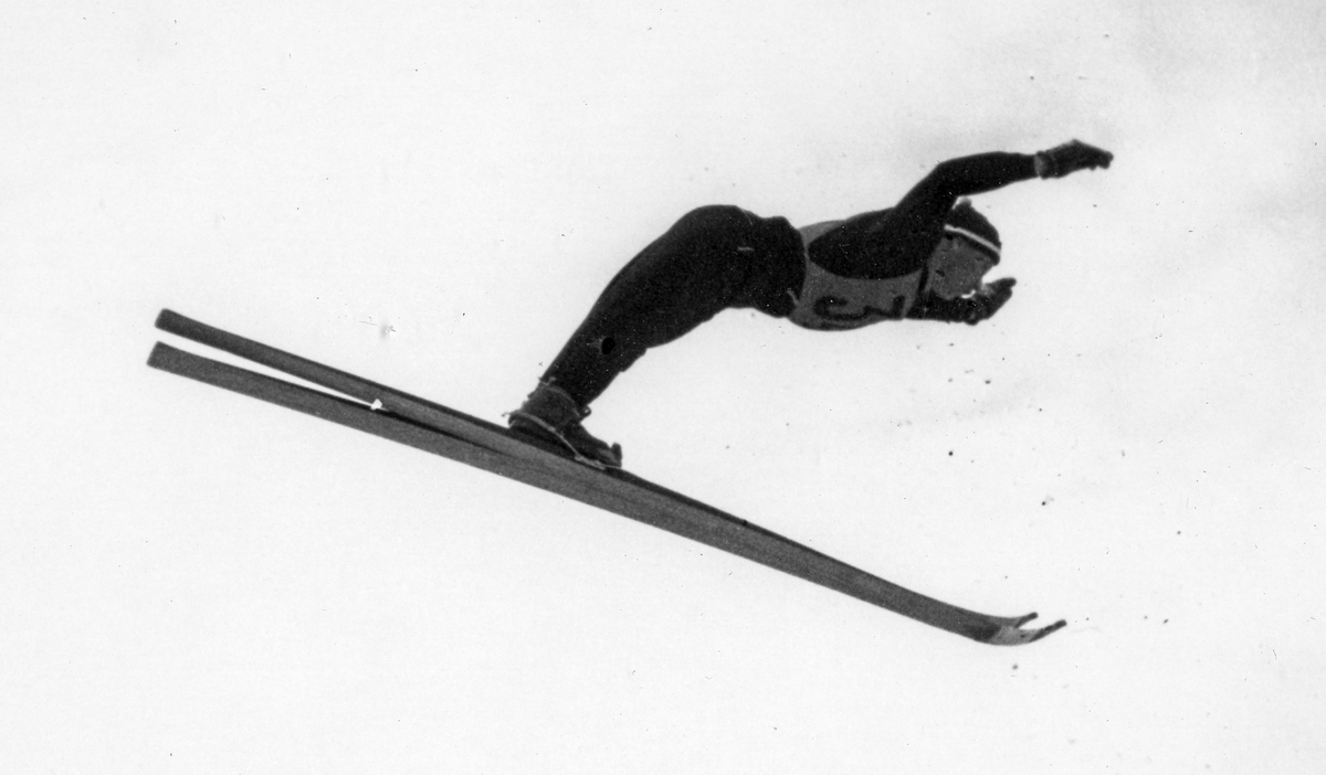 Birger Ruud at Garmisch-Partenkirchen 1936.