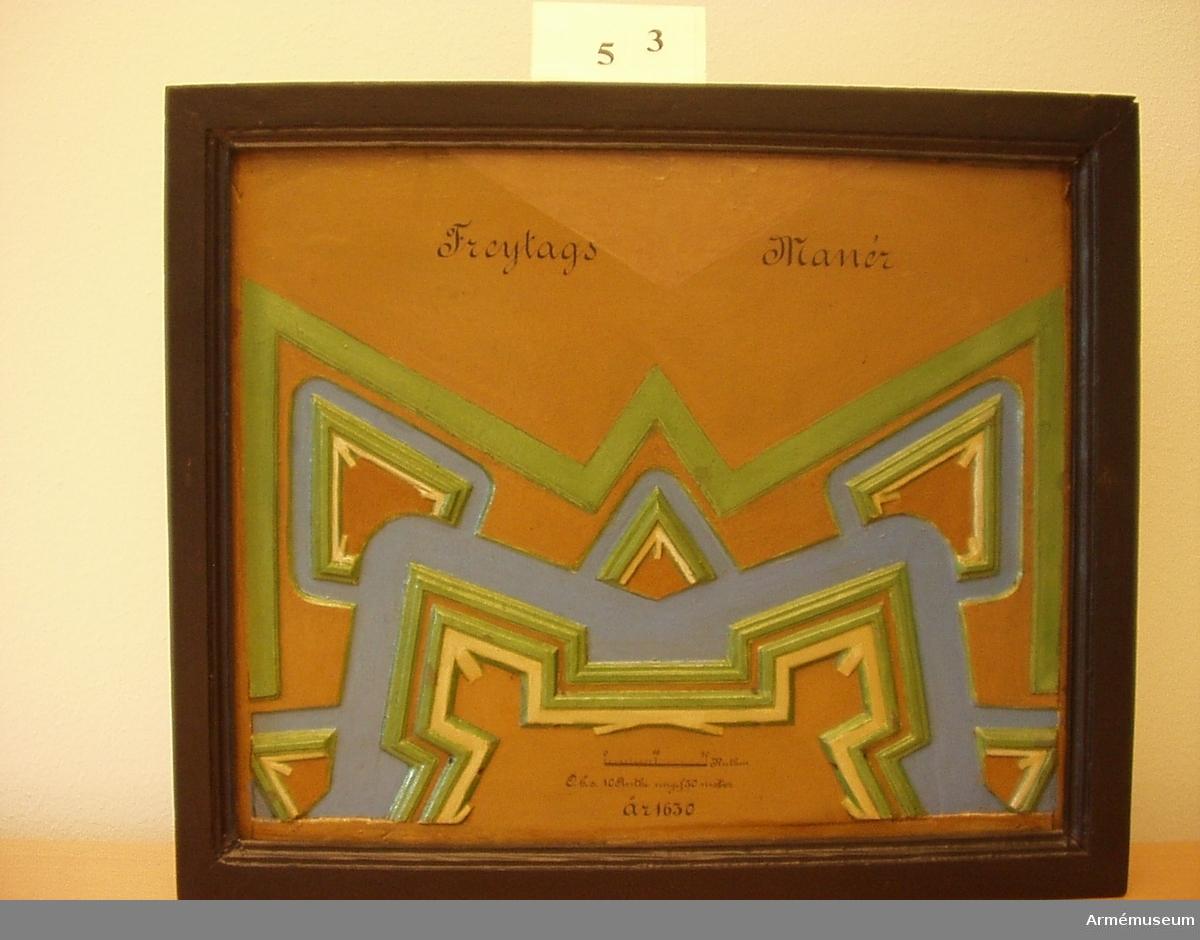 Freytags manér 1630 väggmodell mindre