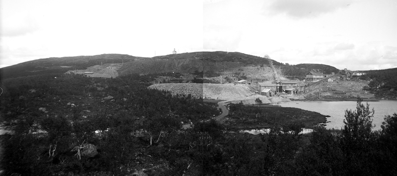 Anlegget på Sextus gruve, like ved Kongens gruve i Nordgruvefeltet ved Røros.
