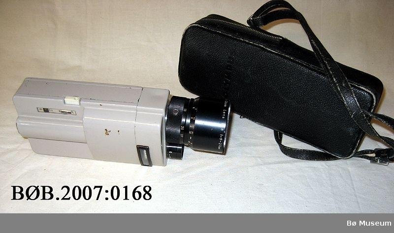 Filmkamera med veske
