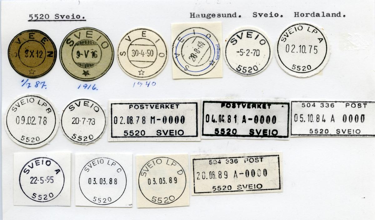 Stempelkatalog 5520 Sveio, Sveio kommune, Rogaland