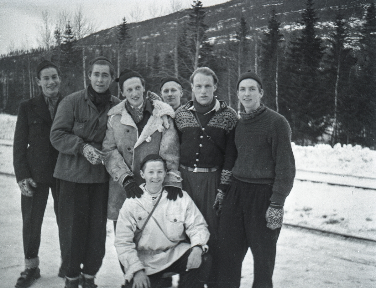 Kongsberg skiers with Italien friends