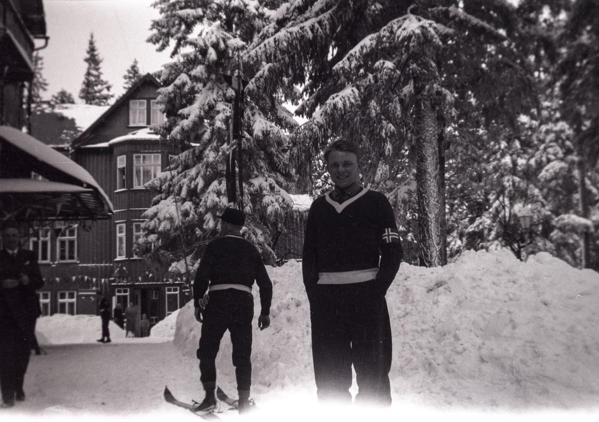 Two Norwegian skiers