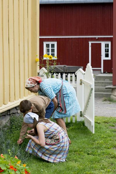 Barn i Trøndelagstunet. Foto/Photo