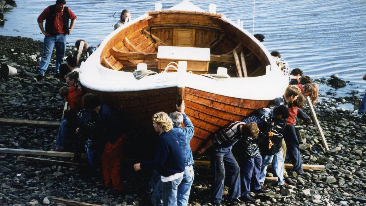 Listerbåten Halten, bygd i 1993. 34 fot.