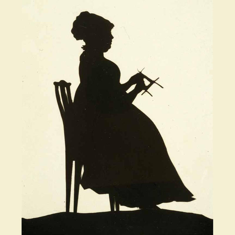 Silhuett. Kvinne som strikker (Foto/Photo)