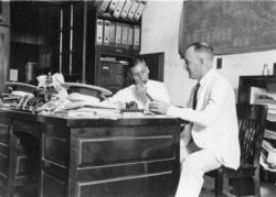 Bergman och jag på SKF kontor. Habana, november 1927