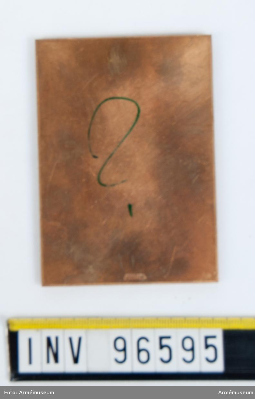 Plakett i guld för Wendes artileriregemente.