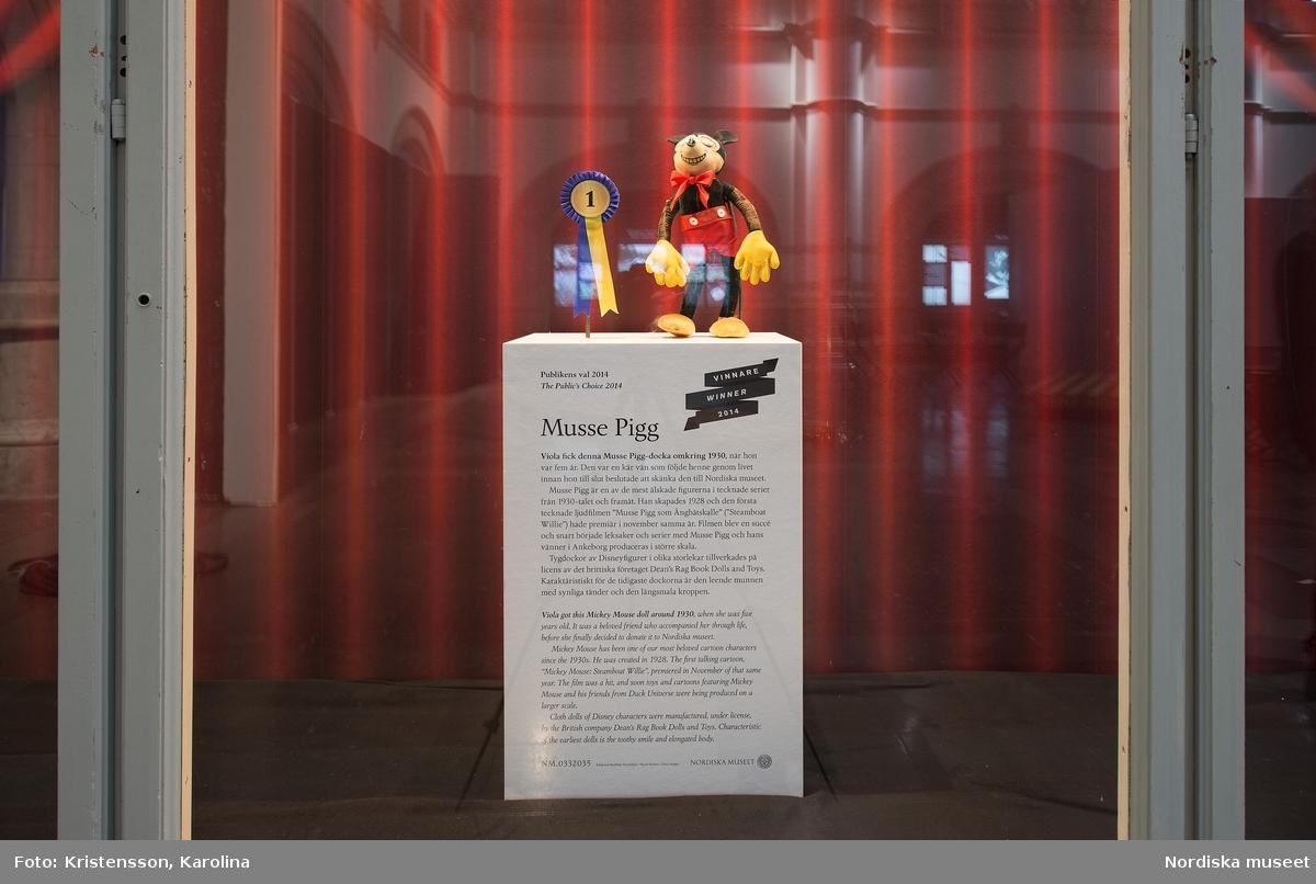 "Dokumentation valvmontern ""Publikens val"" Musse Pigg"