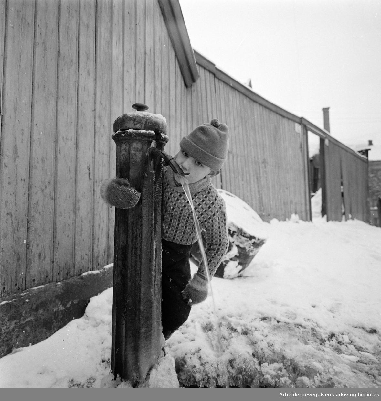 Enerhaugen.Vannpost.Desember 1959