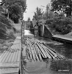 Det nederste kammeret i Ørje sluser i Marker kommune i Østfo