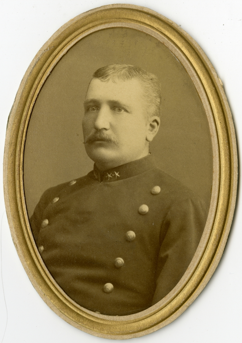 Porträtt av Fredrik Wilhelm von Oelreich, löjtnant vid Södermanlands regemente I 10.