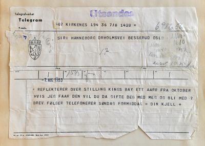 Radiostasjon Ny-Ålesund telegram (Foto/Photo)