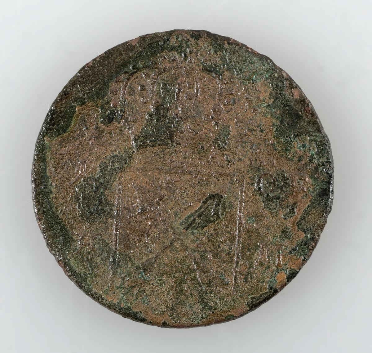 Mynt av koppar. 1 öre km. Präglat 1719 i Stockholm. Ulrika Eleonora.