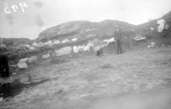 Steinsetting fra Bolga, mulig rester av en gravhaug, eller g