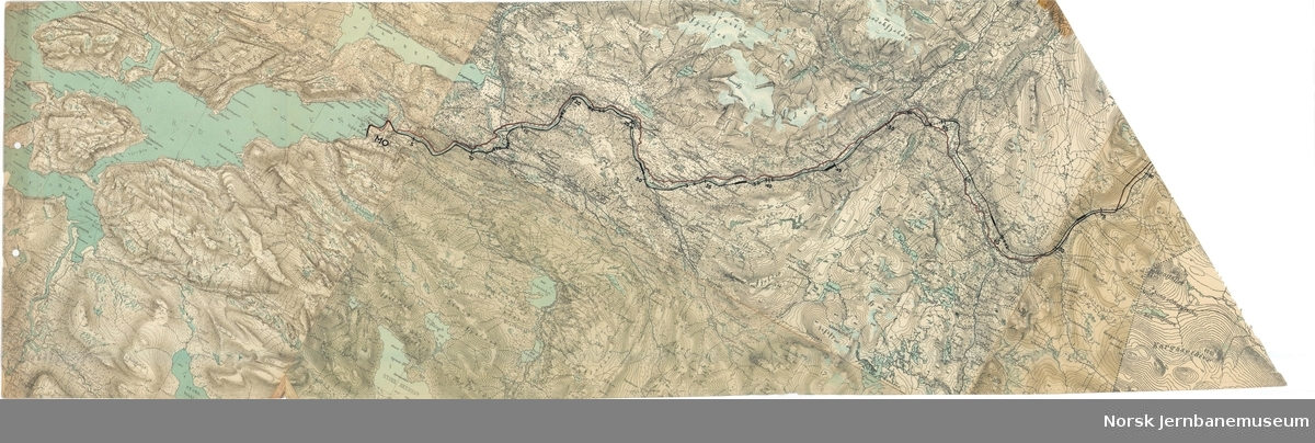 Polarbanen - Den arktiske bane Übersichtslageplan Mo-Fauske km 0-175 1:100000